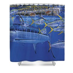 Crystal Blue Off00100 Shower Curtain by Carey Chen