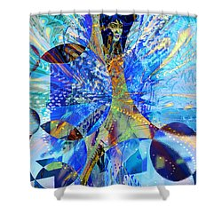 Crystal Blue Persuasion Shower Curtain by Seth Weaver