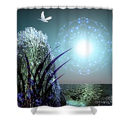 Crystal Breathing Rock Shower Curtain