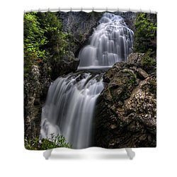 Crystal Cascade In Pinkham Notch Shower Curtain