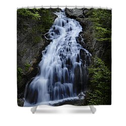 Shower Curtain featuring the photograph Crystal Cascade Waterfall by Alana Ranney