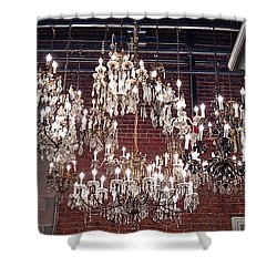 Crystal Chandeliers Shower Curtain by M West