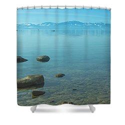 Crystal Clear Lake Tahoe Shower Curtain by Kim Hojnacki