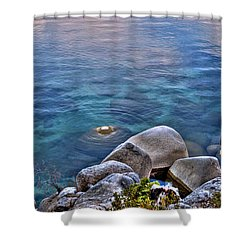 Crystal Clear Sand Harbor Shower Curtain