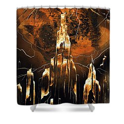Shower Curtain featuring the painting Crystal Complex by Jason Girard
