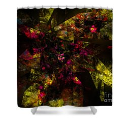 Shower Curtain featuring the digital art Crystal Inspiration #1 by Olga Hamilton