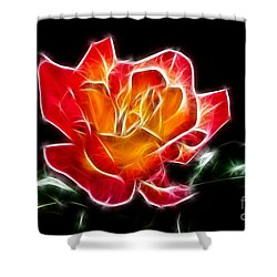 Shower Curtain featuring the photograph Crystal Rose by Mariola Bitner