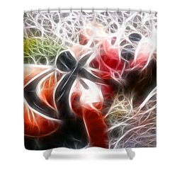 Crystal Sling 2 Fractal Shower Curtain by Gary Gingrich Galleries