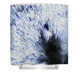 Crystal Star - Black And White Abstract Art By Sharon Cummings Shower Curtain by Sharon Cummings