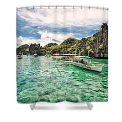 Crystal Water Fun Land Shower Curtain