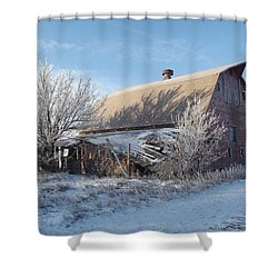 Crystaline Barn Shower Curtain by Bonfire Photography