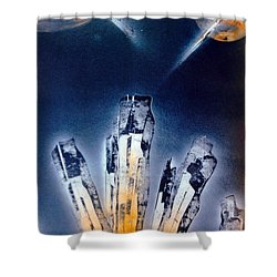 Shower Curtain featuring the painting Crystals by Jason Girard