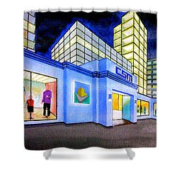 Shower Curtain featuring the painting Csm Mall by Cyril Maza