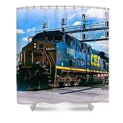 Csx 5292 Warner Street Crossing Shower Curtain