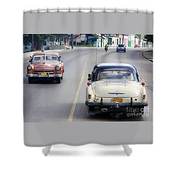 Shower Curtain featuring the photograph Cuba Road by PJ Boylan
