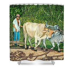 Cuban Countryman Shower Curtain by Manuel Lopez