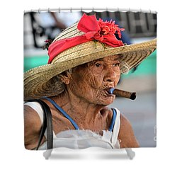 Cuban Lady Shower Curtain