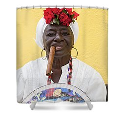 Cuban Lady Two Shower Curtain