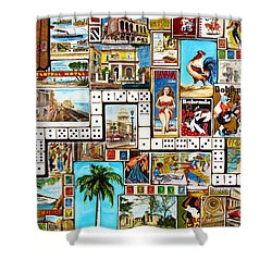 Shower Curtain featuring the painting Cubana by Joseph Sonday