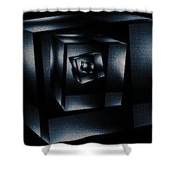 Cube In Cube Shower Curtain by Ramon Martinez