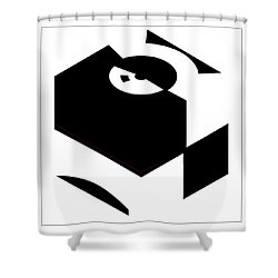 Shower Curtain featuring the digital art Cube by Wendy J St Christopher