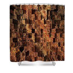 Cubed Shower Curtain by Jack Zulli