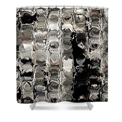 Cubes Unraveled  Shower Curtain by Jack Zulli