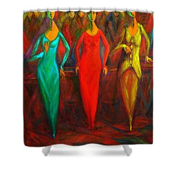 Cubism Dance II Shower Curtain