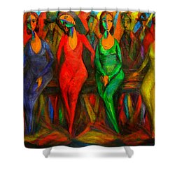 Cubism Dance  Shower Curtain