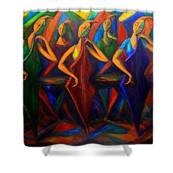 Cubism Music I Shower Curtain