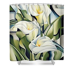 Cubist Lilies Shower Curtain by Catherine Abel