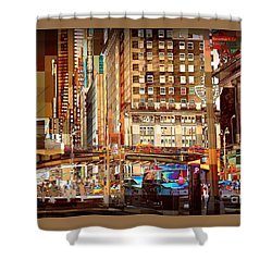 Grand Central And 42nd St Shower Curtain by Miriam Danar