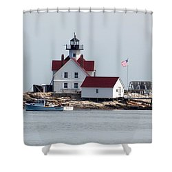Cuckholds Lighthouse Shower Curtain