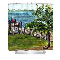 Cudjoe Dock Shower Curtain
