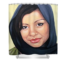 Shower Curtain featuring the painting Cultured Beauty by Malinda  Prudhomme