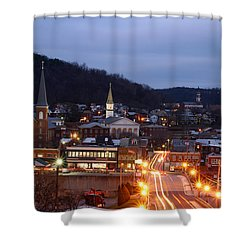 Cumberland At Night Shower Curtain by Jeannette Hunt