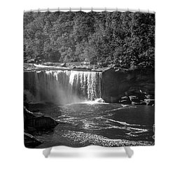 Cumberland Falls Five Bw Shower Curtain