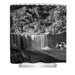 Cumberland Falls Six Bw Shower Curtain