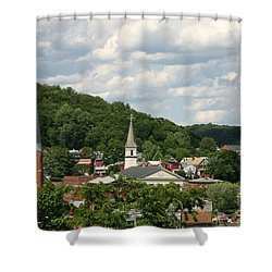 Cumberland Steeples Shower Curtain by Jeannette Hunt