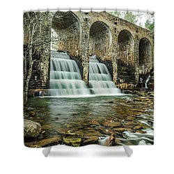 Cumberland Waterfall Shower Curtain by Debbie Green