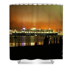 Cunard's 3 Queens Shower Curtain by Terri Waters