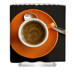 Cup Of Coffee Shower Curtain by Chevy Fleet