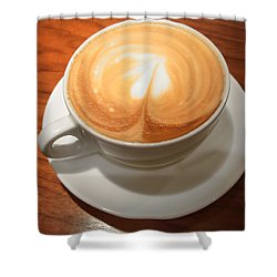 Cup Of Coffee Shower Curtain by Matthias Hauser