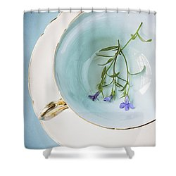 Shower Curtain featuring the photograph Cup Of Three by Amy Weiss