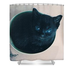 Cup O'kitty Shower Curtain by Seth Weaver