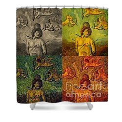 Cupid Persecuted Shower Curtain by John Malone