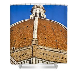Cupola On Florence Duomo Shower Curtain by Liz Leyden