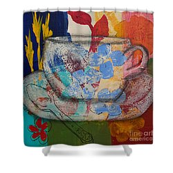 Cuppa Luv Shower Curtain by Robin Maria Pedrero
