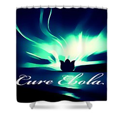 Shower Curtain featuring the photograph Cure Ebola by Eddie Eastwood