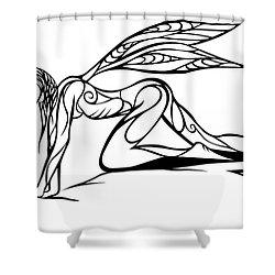 Curious Fairy 1 Shower Curtain by Jamie Lynn